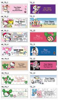 Hello Kitty Tokidoki Personalized Address Labels