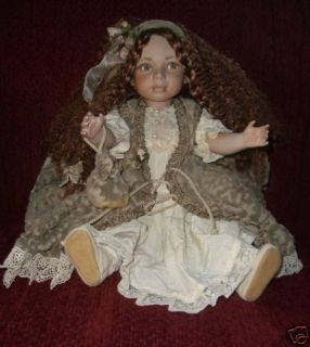 ITALIAN PORCELAIN DOLL ADELINA .MADE IN ITALY.