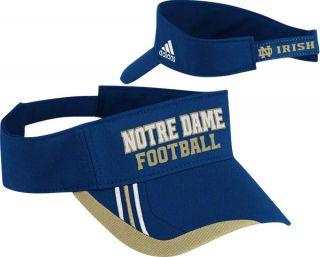Dame Fighting Irish Adidas Football Player Adjustable Visor