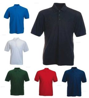 Mens Active Pique Polo T Shirts Sizes XS to 4XL Work Casual Sports
