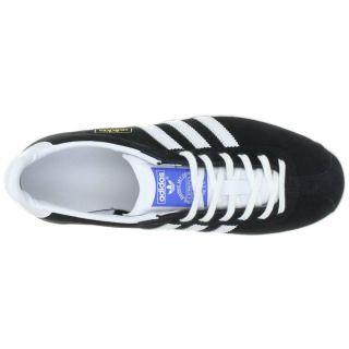 Adidas Originals Mens Gazelle OG Size 6 11 Black White Suede Trainers