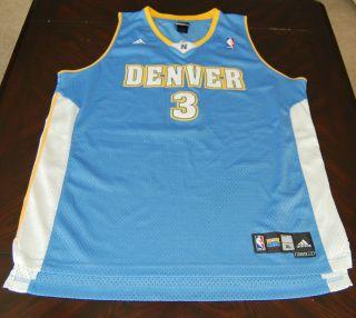 Adidas Mens Allen Iverson Denver Nuggets NBA Basketball Jersey Size XL