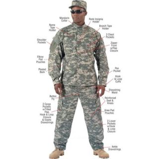 Army ACU Digital Camouflage Combat Uniform Jacket Shirt