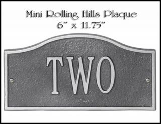 PRODUCTS ROLLING HILLS MINI ADDRESS PLAQUE SIGN MARKER DISCOUNT PRICE