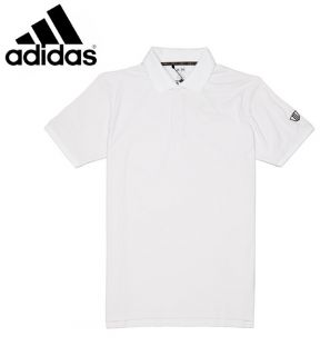 Adidas ClimaLite FP Tipped Polo CLOSEOUT White Black Mens x Large