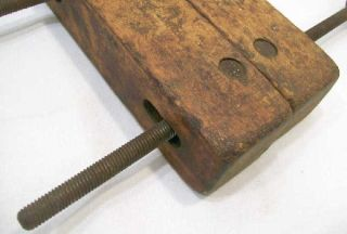 Old Wooden Clamp Made by Adjustable Clamp Co Jorgensen