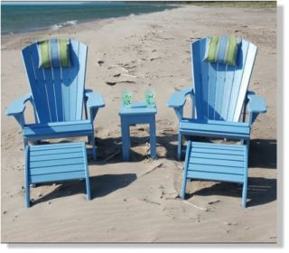 New Adirondack Chair Recycled Plastic Beach Patio Outdoor Furniture