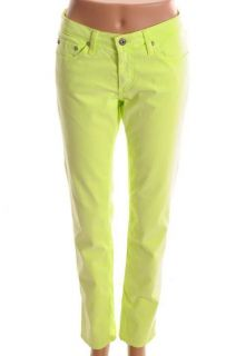 Adriano Goldschmied NEW The Stilt Neon Green Low Rise Skinny Jeans 29