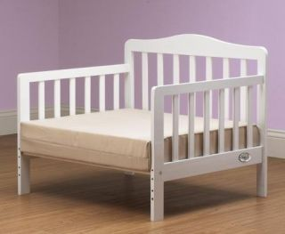 New Orbelle Solid Wood Contemporary Toddler Bed White Finish