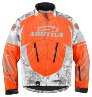 Arctiva COMP6 Snowmobile Jacket Coat Mens Orange Camo 2XL