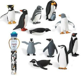 11 Mini Collectable Penguin Figures New 2 Lot Pack Mix