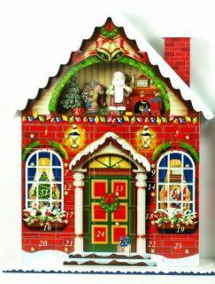 18 Wooden Christmas House Countdown Christmas Advent Calendar