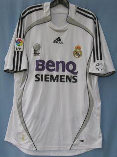 Adidas short sleeve Benq Siemens print Real Madrid soccer jersey mens
