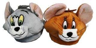 Tom and Jerry Looney Tunes Cartoon Adult Mens Slippers