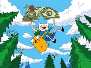 Finn Jake Adventure Time Fridge Magnet Cartoon Network Dollar Bill