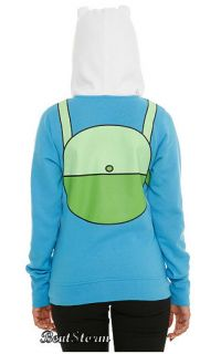 NEW Adventure Time Finn & Jake I AM FINN Zip Costume Hoody Hoodie
