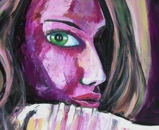 Modern 5ft Woman Portrait Original Art Painting Dan BYL Contemporary