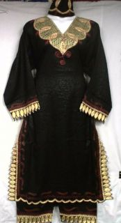 African Women Clothing Dress Pant Suit Black Gold Red NotCome M L XL