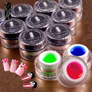 Set de 12 Color Manicura UV Gel Decoracion de Uñas 5ml