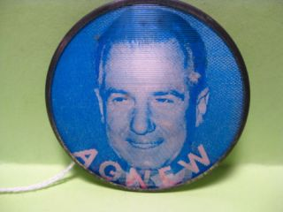 1968 Nixon Agnew Flasher Campaign Button Pin 2 3 8