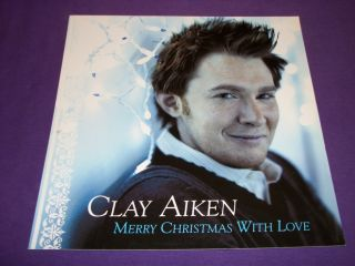 Clay Aiken   Merry Christmas With Love   2004 RCA Records Promo Poster