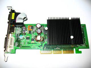 512MB AGP Windows 7 Vista XP 98 Dual Monitor Display View Low Profile