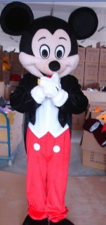 Professional Mickey Mouse Mascot Costume Adult Size Fancy Party Dress
