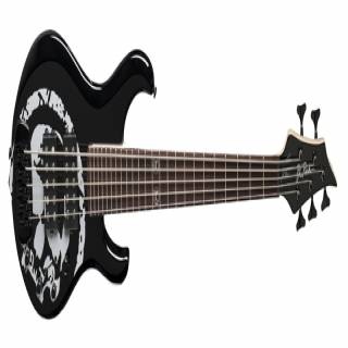 NEW BC RICH JOHN MOYER HAVOC 5 STRING BASS GUITAR BLACK WITH SKULL