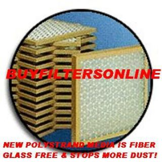 12 Home Air Filters Furnace Heat Pump Polyester PTA GF