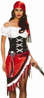 Sexy Pirate Vixen Buccaneer Wench Fancy Dress Halloween Costume