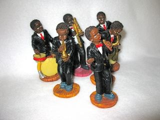 FIGURINES ~ AFRICAN AMERICAN JAZZ BAND ~ GREAT COLLECTIBLE SET