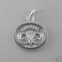 Jump Wings Pendant Airborne Sterling Silver 48