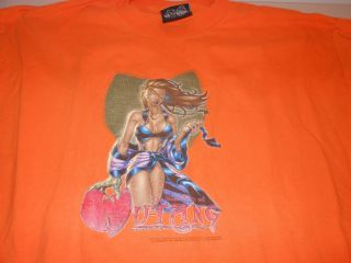 Wu Tang Clan Mens Shirt Orange XL Hip Hop Rap Vintage