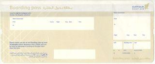 Boarding Pass Persian Gulf Air Dubai Qatar Airlines Ticket