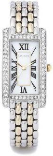 ak anne klein women s ak 1077mptt classic crystal two tone bracelet