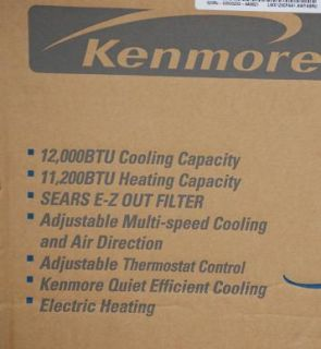 KENMORE 75124 12,000 BTU Heat/ Cool Air Conditioner NIB