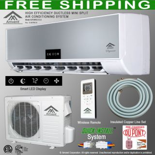 Amvent 12000 BTU Ductless Mini Split Air Conditioning System ***FREE