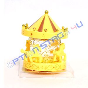 Yellow Lemon Carousel Horse Car Air Freshener Cologne Fragrance