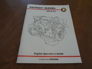 Detroit Diesel 1000 Series Engine Operators Guide Manual