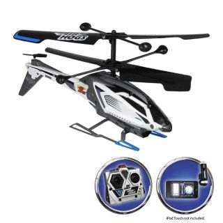 Air Hogs Heli Replay Radio Control Helicopter Black Silver Blue