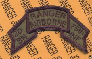 2D BN 75th Inf Airborne Ranger 1974 1984 Scroll Patch D