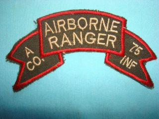 Company Airborne Ranger 75th Infantry Regiment Scroll Patch