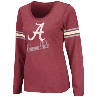 Alabama Crimson Tide Womens Mako II Slub Long Sleeve T Shirt Crimson
