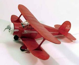 Staggerwing 214 Dumas 17 Wingspan Balsa Wood Model Airplane Kit