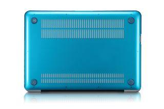 Osaka Airy Aqua Blue See thru Crystal Hard Case Cover for MacBook Pro