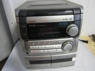 AIWA CX NA222 CD3 COMPACT DISC CASSETTE STEREO DIGITAL AUDIO SYSTEM