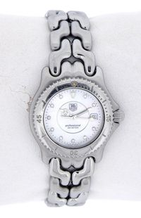 Tag Heuer s El Link Stainless Steel Mother of Pearl Diamond Ladys