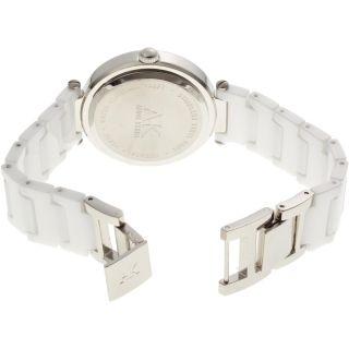 AK Anne Klein Womens 10 9417WTWT Swarovski Crystal Accented Silver