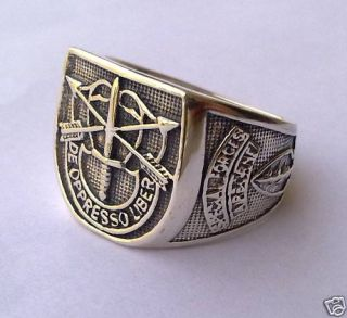 Sterling Silver 925 Old Special Forces Airborne Ring