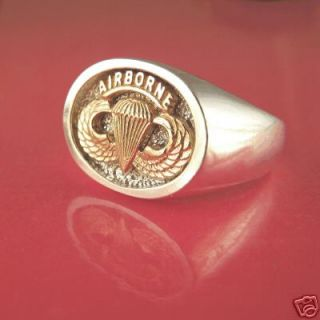 Army Airborne Jump Wings Ring 14k Sterling